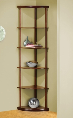 Corner Bookshelf with 5 Shelves in Cherry - 800280