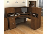 Corner Desk with Hutch in Tuscany Brown - Elite - Bestar Office Furniture - 68850-63