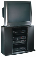 Corner Entertainment Stand Black - Sauder Furniture - 165454