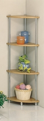 Corner Etagere in Natural - Coaster
