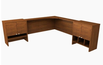 Corner Hutch in Tuscany Brown - Elite - Bestar Office Furniture - 68500-63