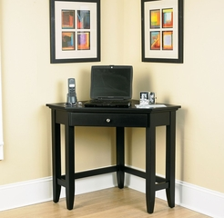 Corner Lap Top Desk in Ebony - Bedford - 5531-17