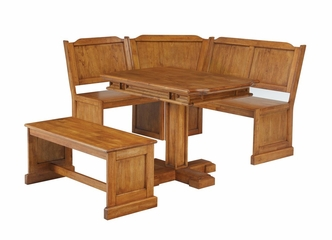 Corner Nook Dining Set in Cottage Oak - Home Styles - 5004-80038