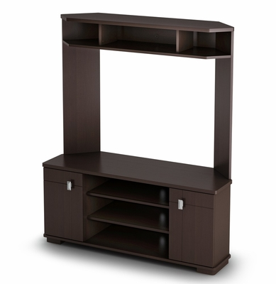 Corner TV stand in Chocolate - Vertex - South Shore Furniture - 4269629