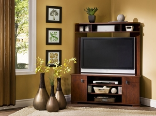 Corner TV Stand in Classic Cherry - South Shore Furniture - 4268629