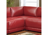 Corner Unit in Red Leather - Coaster