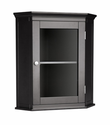 Corner Wall Cabinet in Dark Espresso - Madison Avenue - 7657