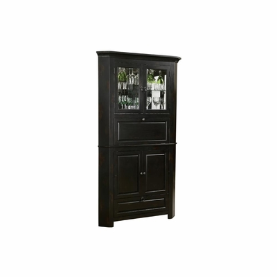Cornerstone Estates Bar Cabinet in Worn Black - Howard Miller