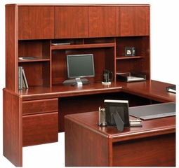 Cornerstone Hutch For 404379 / 404380 Desks Classic Cherry - Sauder Furniture - 404999