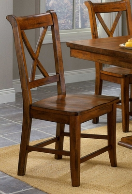 Cornwall Side Chair with X-Back - Entree by APA Marketing - CRN-17SRTA