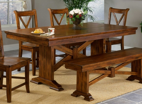 Cornwall Trestle Dining Table - Entree by APA Marketing - CRN-4072