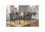 Coronado Rectangular Dining Table with 4 Gray Loom Side Chairs - Largo - LARGO-ST-D210-31-41G-SET