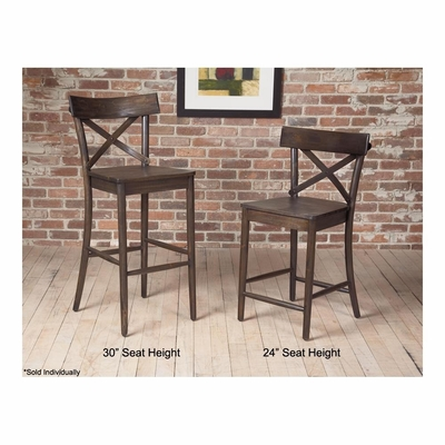 Coronado X Back Wood Stool - Largo - LARGO-ST-D210-2XC