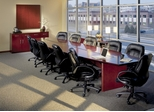 Corsica Executive Conference Room Package in Sierra Cherry - Mayline Office Furniture