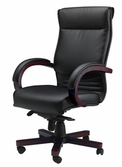 Corsica Leather Chair in Mahogany - Mayline Office Furniture - CSMAH