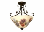 Cosmos Hand Painted Semi Flush Mount - Dale Tiffany