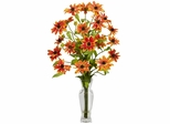 Cosmos with Vase Silk Flower Arrangement - Nearly Natural - 1172-OR