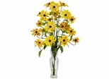Cosmos with Vase Silk Flower Arrangement - Nearly Natural - 1172-YL