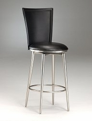 Counter Bar Stool - Bristol Black Vinyl Swivel Counter Stool - 4373-828
