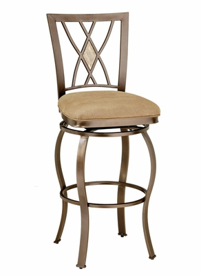 Counter Bar Stool - Brookside Diamond Fossil Back Swivel Counter Stool - Hillsdale Furniture - 4815-827