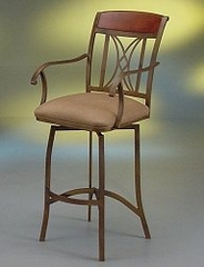 Counter Bar Stool - Cozumel Arm Swivel Counter Seat Height Barstool in Autumn Rust - Pastel - CZ217-AR-26