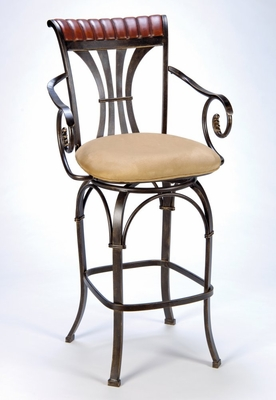 Counter Bar Stool - Fairfield Counter Stool with Memory Swivel - Hillsdale Furniture - 4706-827