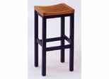 Counter Bar Stool in Black with Cottage Oak Seat - Home Styles - HS-5635-88