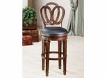 Counter Bar Stool - Wood Stool - Dover Counter Stool with Leather Seat - 62967
