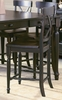 Counter Height Chair in Black-Sand Through - 715-24