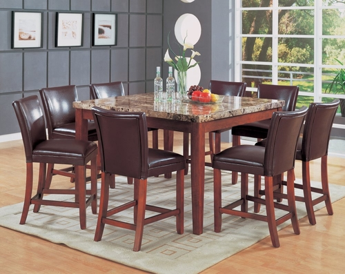 Counter Height Dining Table and Stool Set 1 - Coaster
