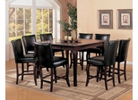 Counter Height Dining Table and Stool Set in Dark Cherry - Coaster