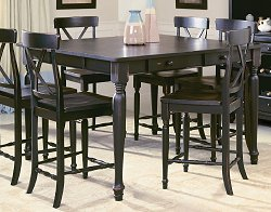 Counter Height Table in Black-Sand Through - 715-36