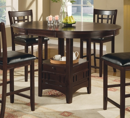 Counter Height Table in Dark Cappuccino - Coaster - 102888
