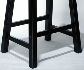 "Counter Stool - ""Antique Black"" with Sand Through Terra Cotta - Powell Furniture - 502-430"