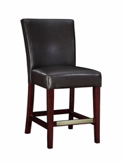 Counter Stool - Brown Bonded Leather - Powell Furniture - 749-918