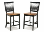 Counter Stool in Black/Oak - 5003-89