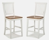 Counter Stool in White/Oak - 5002-89
