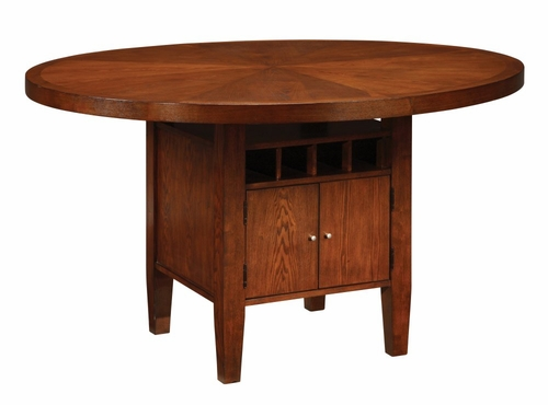 Counter Top Round Table with Wine Storage - Hudson Dining - Modus Furniture - HD6162W