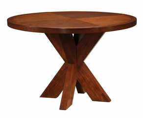 Counter Top Round Table with X Base - Hudson Dining - Modus Furniture - HD6162X