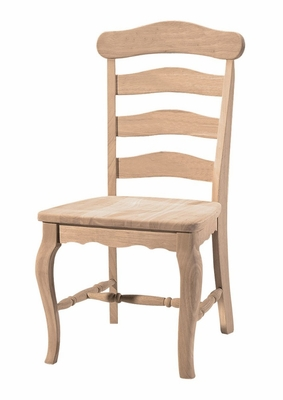 Country French Chair with Solid Seat (Set of 2) - C-219P