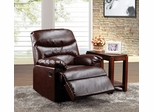 Cracked Brown Leather Recliner - Arcadia - 59016