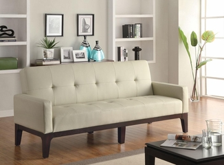 Cream Sofa Bed with Track Arms - 300226