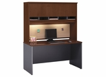 "Credenza 60"" and Hutch Set - Series C Hansen Cherry Collection - Bush Office Furniture - WC24461-62"