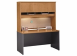 "Credenza 60"" and Hutch Set - Series C Natural Cherry Collection - Bush Office Furniture - WC72461-62"