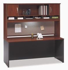 "Credenza 72"" and Hutch Set 1 - Series C Hansen Cherry Collection - Bush Office Furniture - WC24426-66"