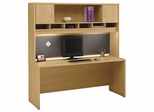 "Credenza 72"" and Hutch Set 1 - Series C Light Oak Collection - Bush Office Furniture - WC60326-66"