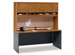 "Credenza 72"" and Hutch Set 1 - Series C Natural Cherry Collection - Bush Office Furniture - WC72426-77"