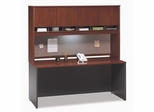 "Credenza 72"" and Hutch Set 2 - Series C Hansen Cherry Collection - Bush Office Furniture - WC24426-77"