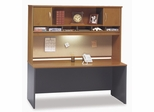 "Credenza 72"" and Hutch Set 2 - Series C Natural Cherry Collection - Bush Office Furniture - WC72426-66"