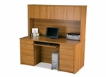 Credenza and Hutch Set 1 in Cappuccino Cherry - Embassy - Bestar Office Furniture - 60851-68